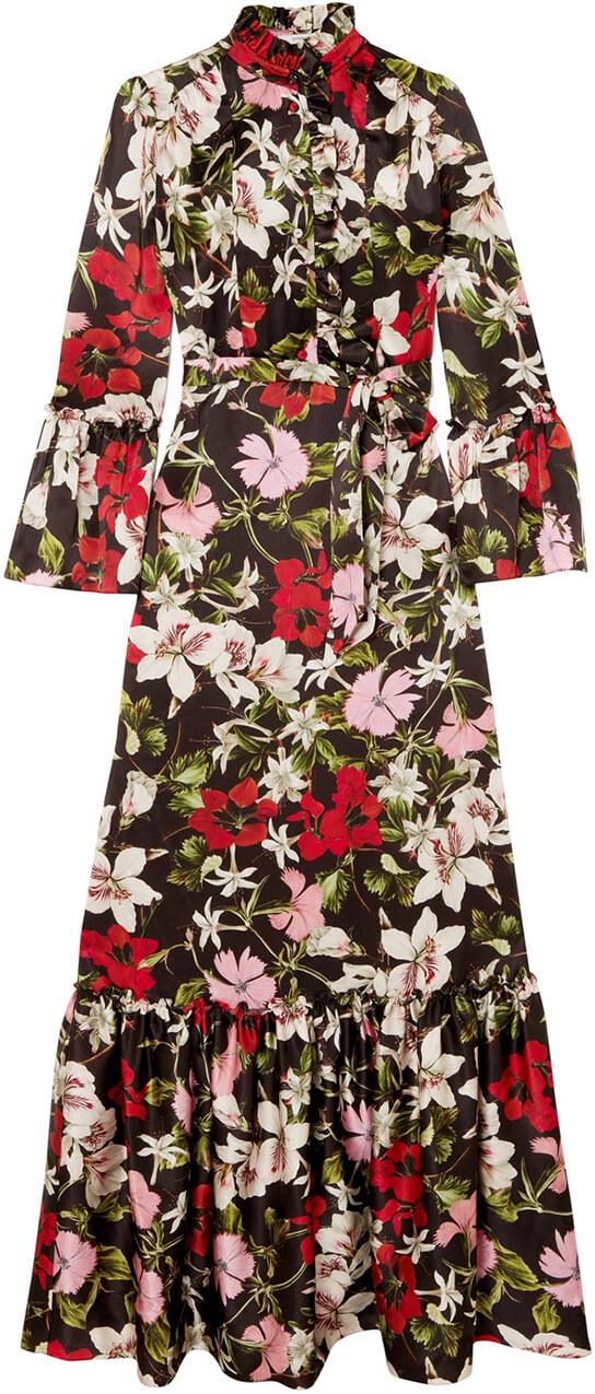 long floral ERDEM dress