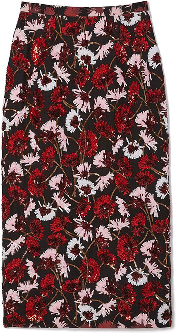 ROCHAS floral print skirt