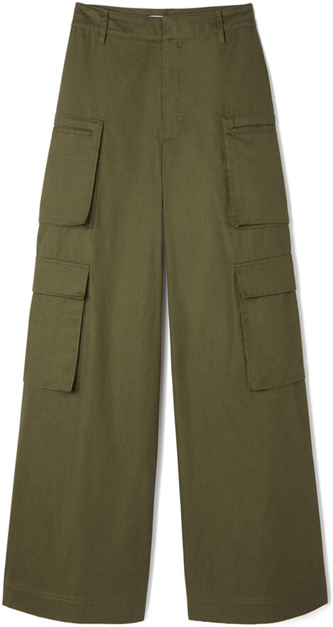 G Label Dmitri Wide Leg Cargo Pants