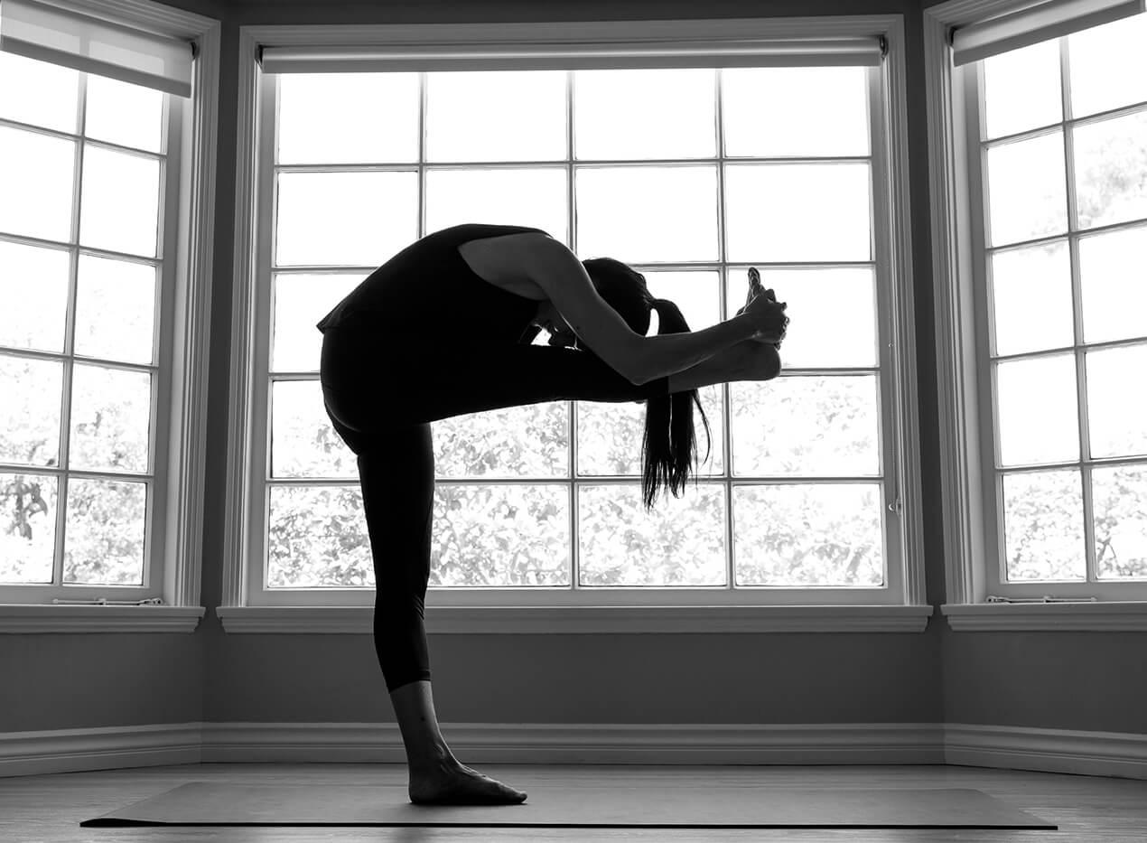 Danielle doing yoga