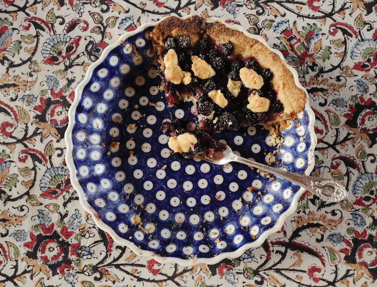 Wild Blackberry Crumble Tart