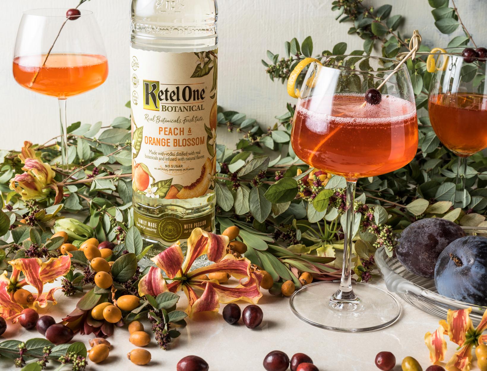 Peaches & Cranberry Spritz