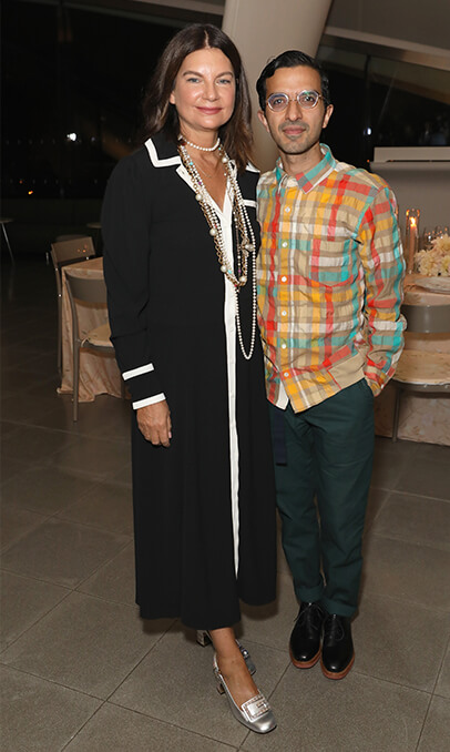 Natalie Massenet and Business of Fashion's Imran Amed.