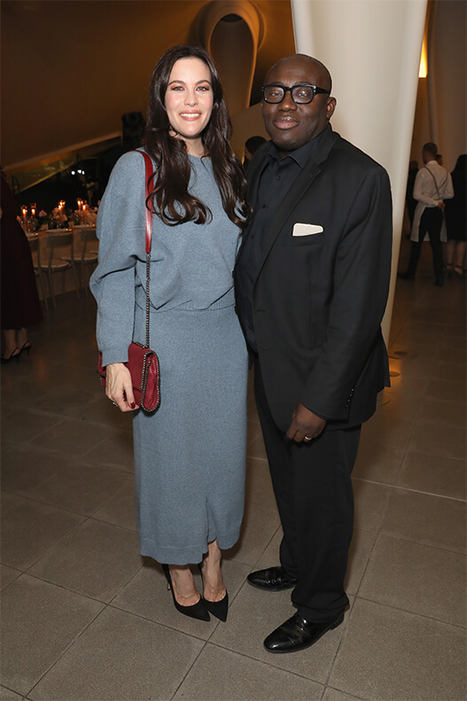 Liv Tyler and British Vogue's Editor in Chief Edward Enninful.