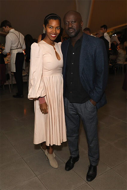 Sir David and Lady Ashley Adjaye.