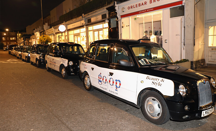 We goop'd a few London taxis for the occasion.