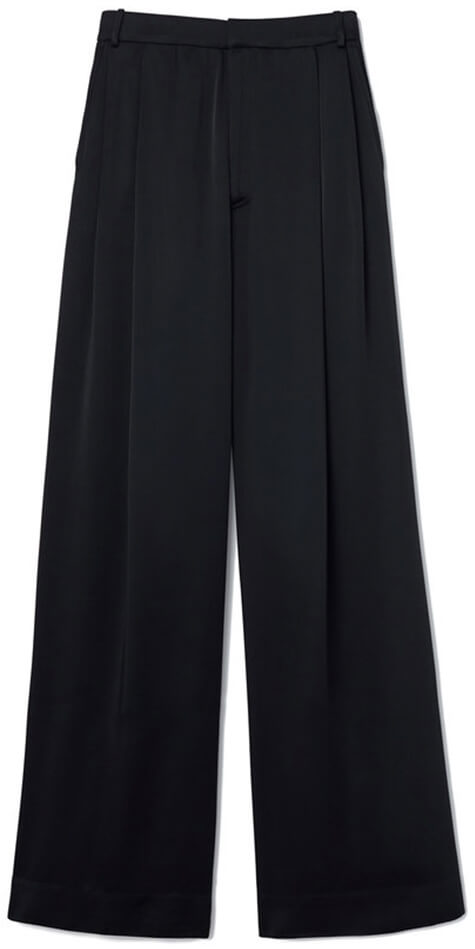 KELLY SATIN WIDE-LEG TROUSERS