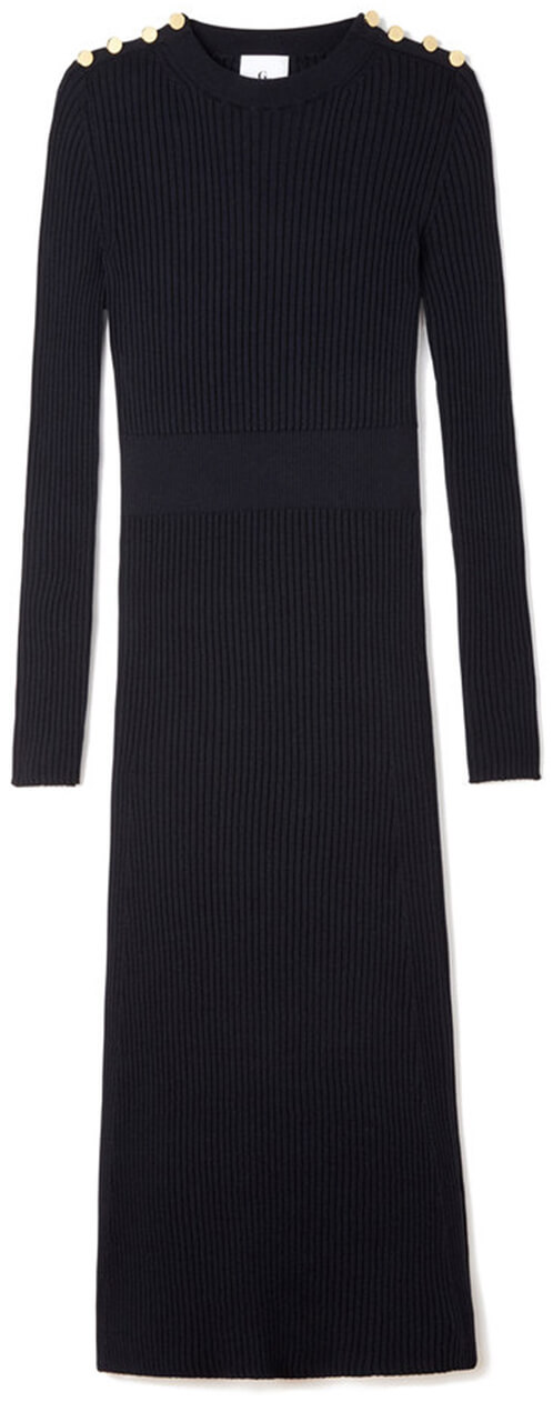 G. LABEL REBECCA RIB SWEATERDRESS