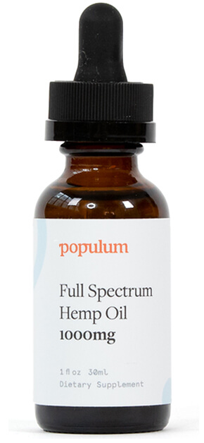 bottle of hemp oil