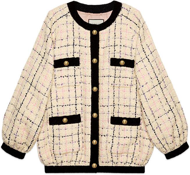 GUCCI tweed bomber jacket