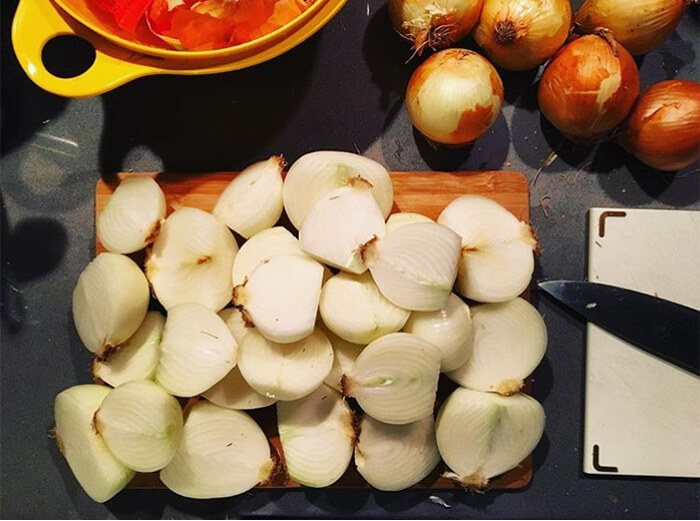 Sliced Apples on a Cutting Board Thanksgiving