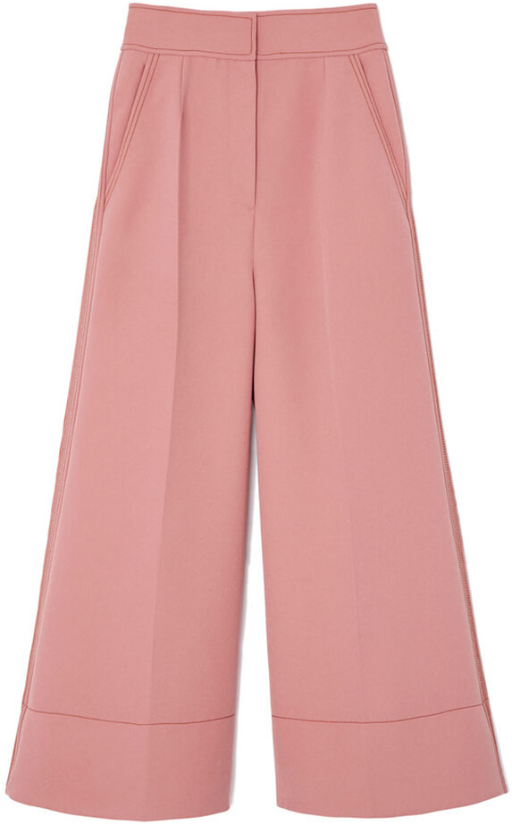 Pink wide-leg trousers