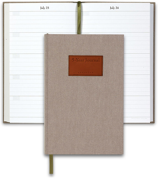 Five Year Journal Brown