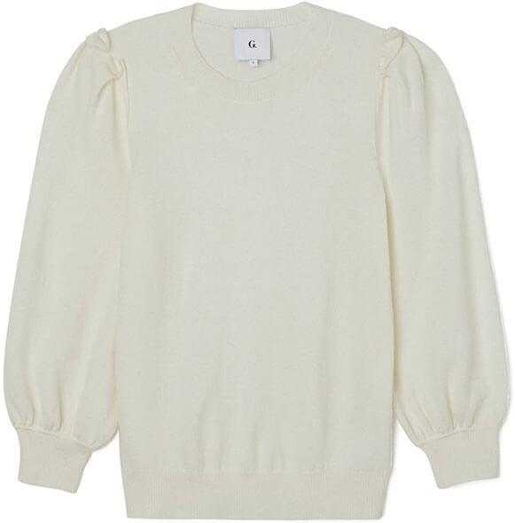 g. label wendy puff sleeve sweater