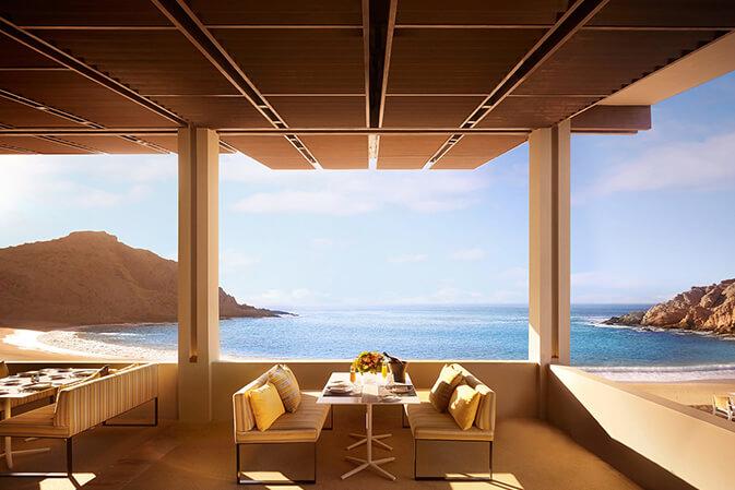 minimalist property lounge