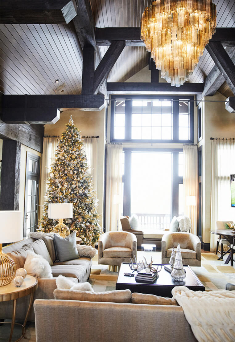 Kendra Scott's Home In Austin with Christmas Tree