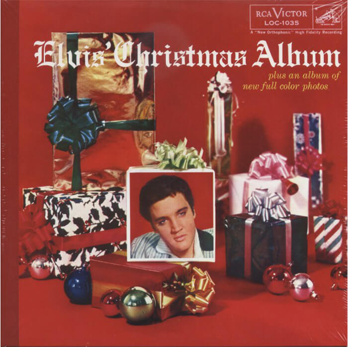 Elvis Christmas Album Cover