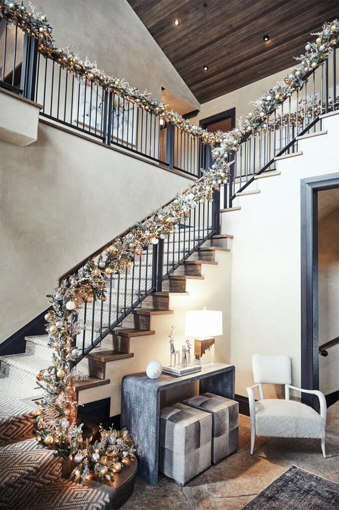 Kendra Scott Stairway Christmas Decorations