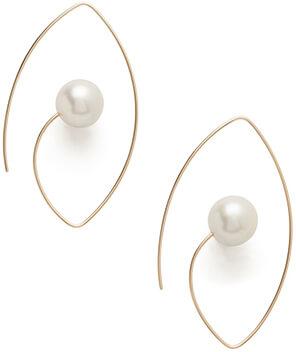 hirotaka pearl earrings