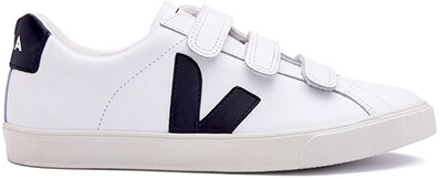 white and black veja sneakers
