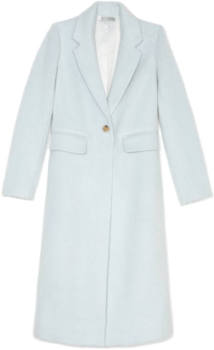 blue vince overcoat