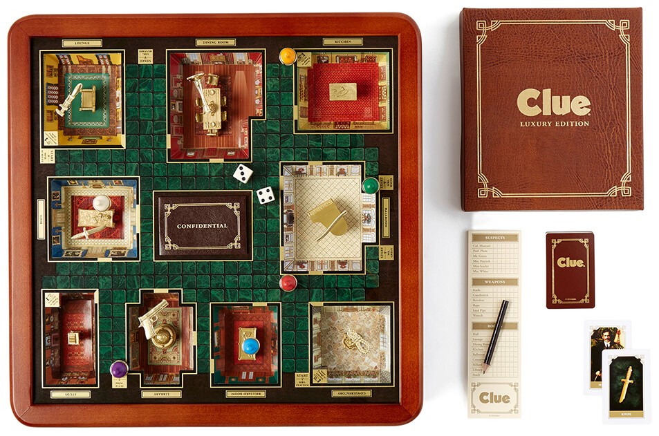 WS GAME COMPANY Clue Luxury Edition