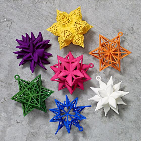 WHITNEY MUSEUM Frank Stella Star Ornament