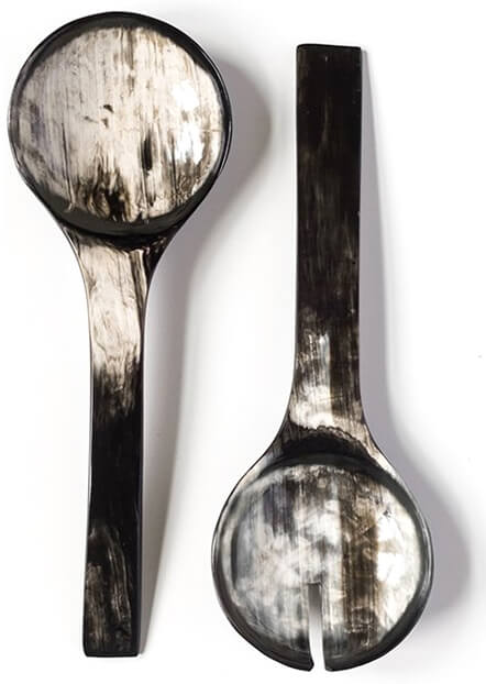 ROSE & FITZGERALD Ankole Horn Serving Spoon Set