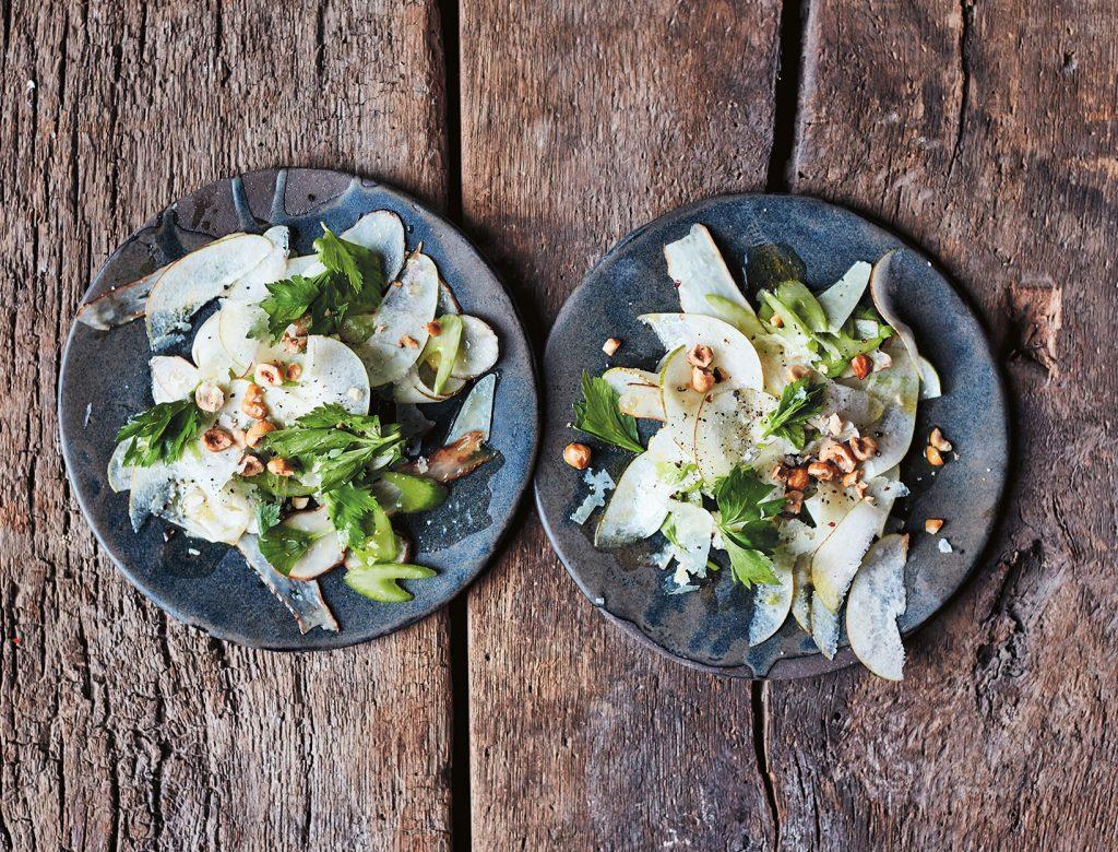 Jerusalem Artichoke, Celery, and Pear Salad