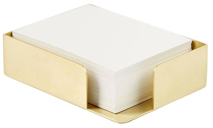 Brass Memo Box