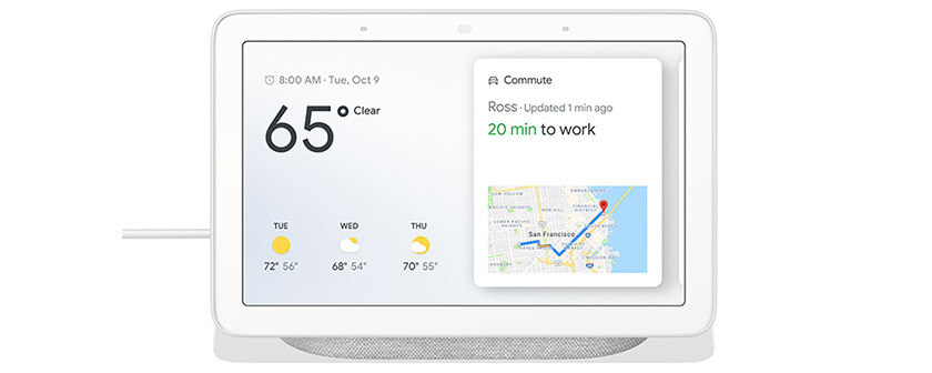 White Google Home Hub