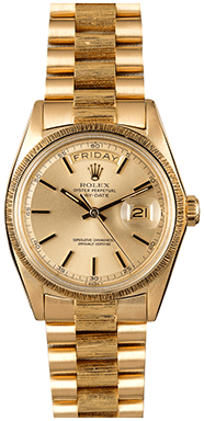 BOB'S WATCHES Yellow-Gold Rolex Day Date 1807