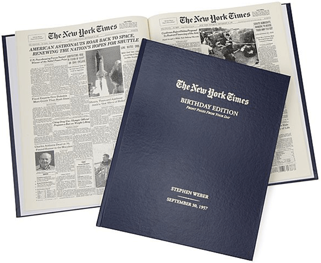 UNCOMMON GOODS New York Times Custom Birthday Book