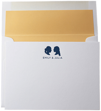 SESAME LETTER PRESS Custom Silhouette Stationery