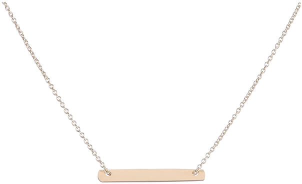BROOKE CORSON Tiny Flat Plate Necklace