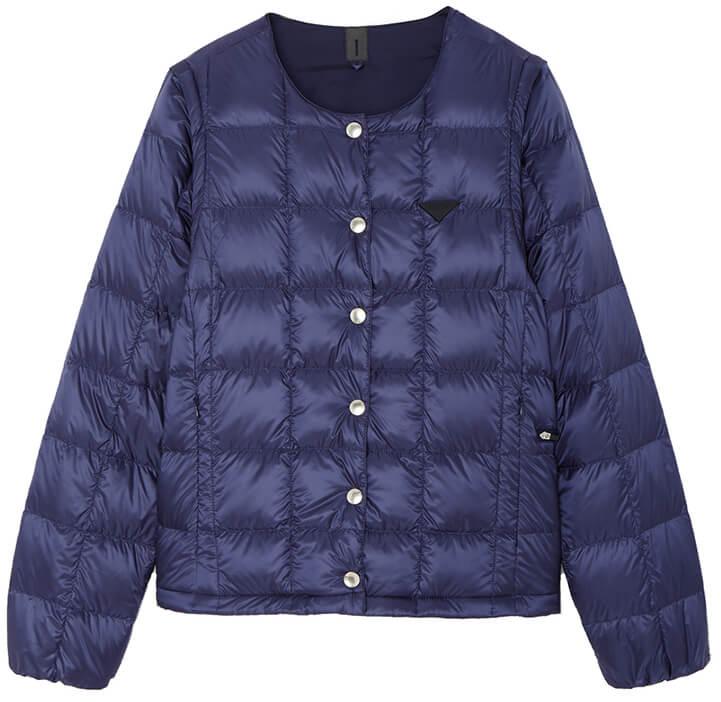 Taion Women's Crew Neck Button Down Jacket