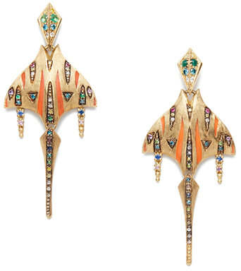 Venyx RAINBOW TIGER RAY EARRINGS