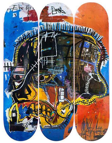 Artware Skull decks by Jean-Michel Basquiat