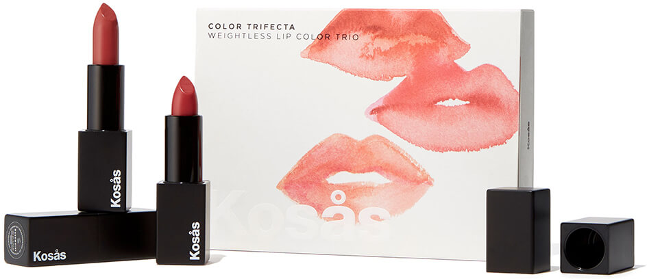 KOSAS Color Trifecta: Weightless Lip Color Trio