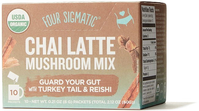 Four Sigmatic Chai latte with turkey tail & reishi