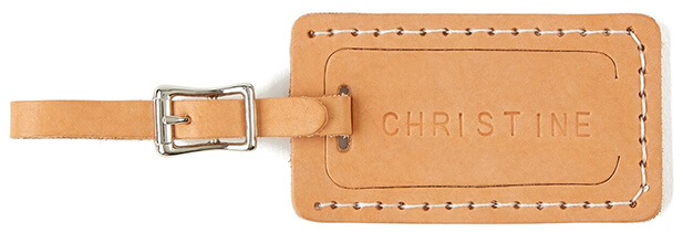 Celina Mancurti Leather Luggage Tag, Personalized