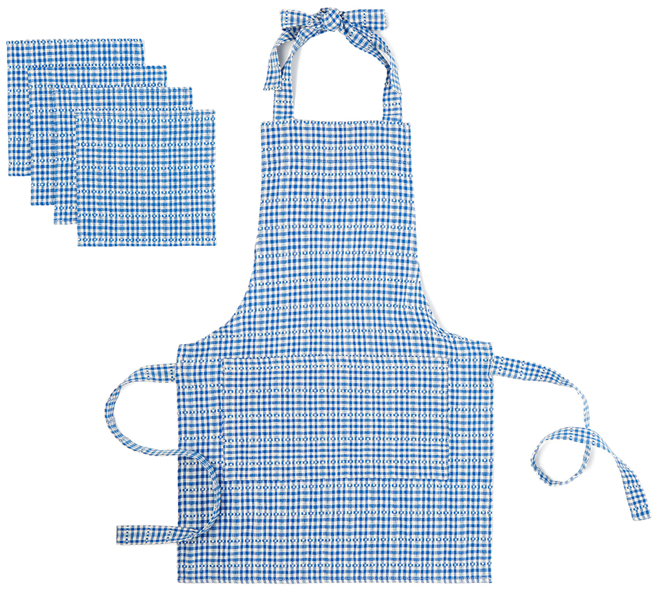 Heather Taylor Home Kid'S Apron + Napkin Set