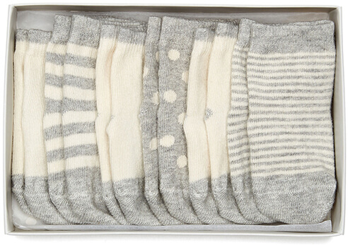 Etiquette Clothiers Cotton-Cashmere Baby Socks 6 Pair Bundle