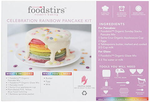 Foodstirs Celebration Rainbow Organic Pancake Kit