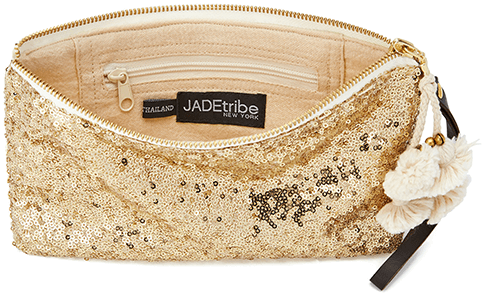 Jadetribe Sequin Wristlet