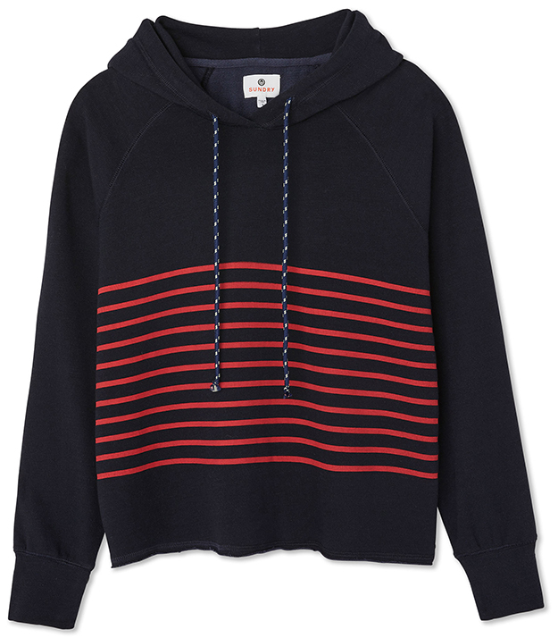 Sundry Cropped Midnight Hoodie
