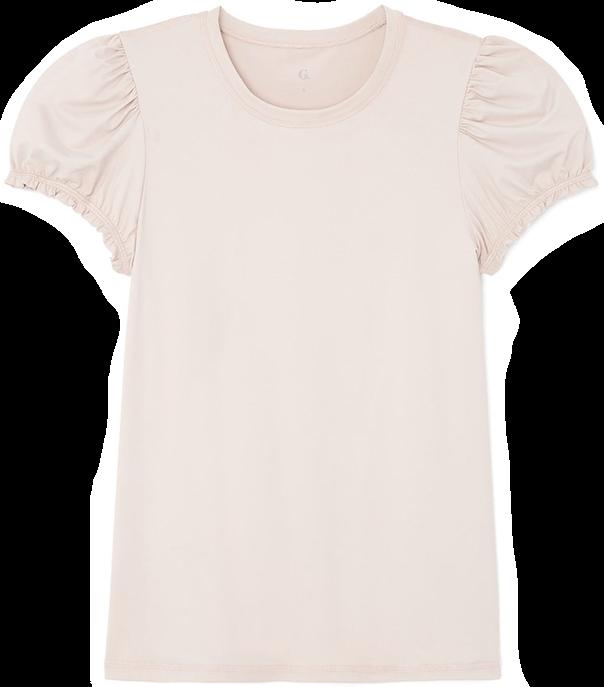 G. Sport Puff-sleeve tee pink
