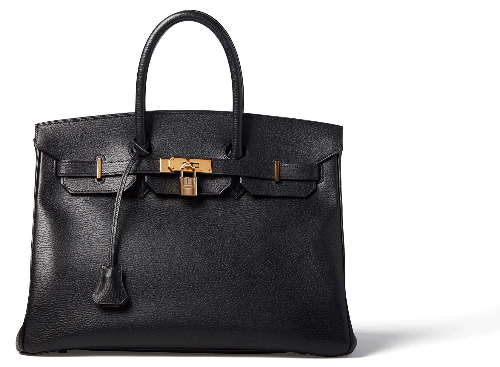 What Goes Around Comes Around HERMÈS ARDENNES BLACK BIRKIN 35