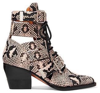 leopard print chloe boots