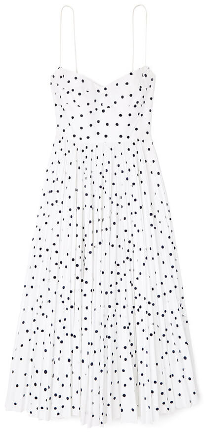 black and white polka dot sun dress